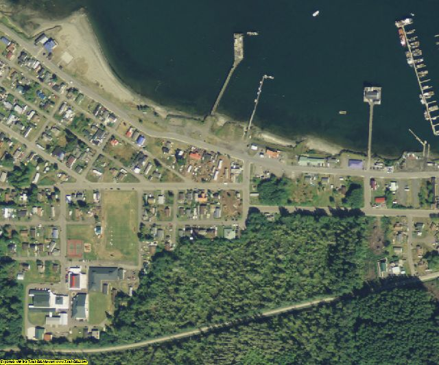 Clallam County, WA aerial photography detail