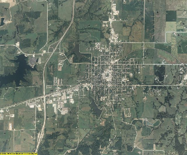 Clarke County, Iowa aerial photography