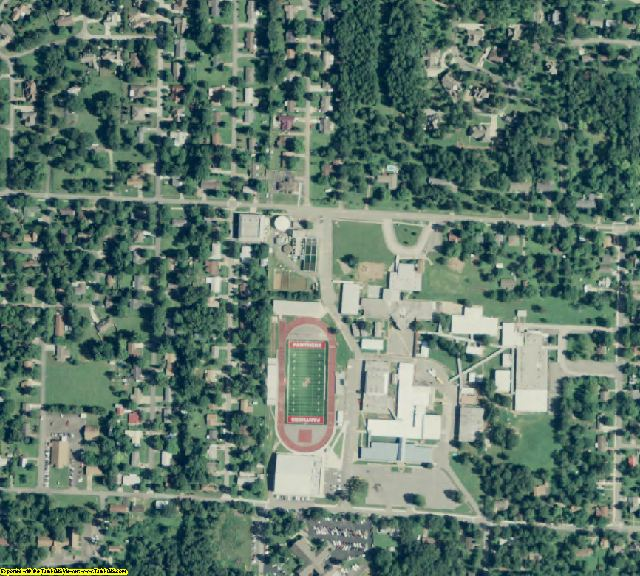 Cleburne County, AR aerial photography detail