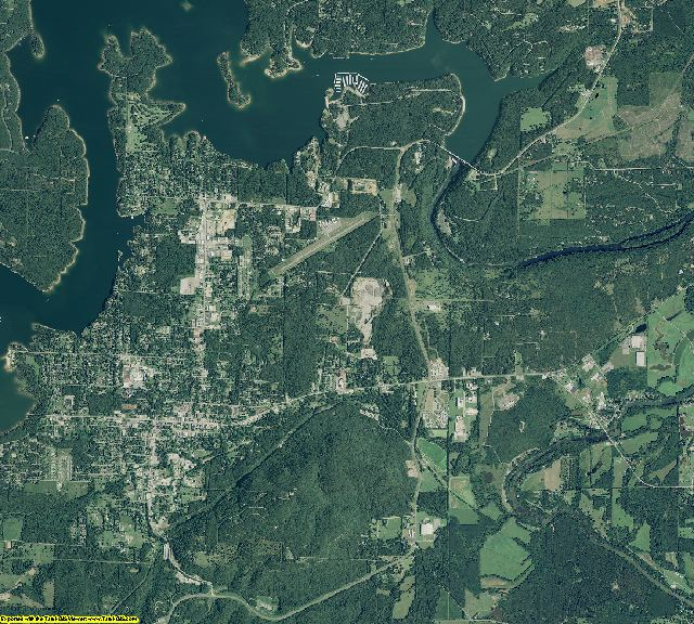 Cleburne County, Arkansas aerial photography