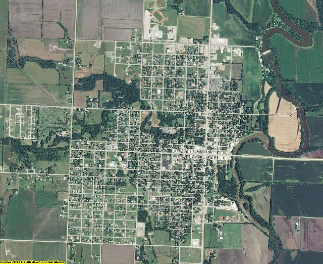 Coffey County, Kansas aerial photography