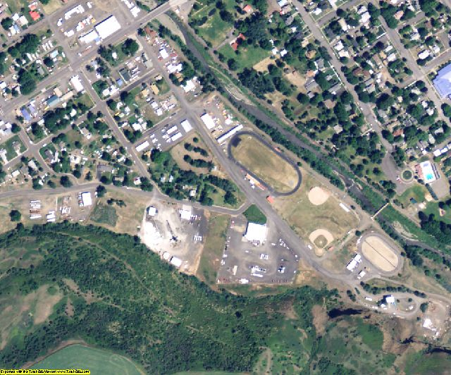 Columbia County, WA aerial photography detail
