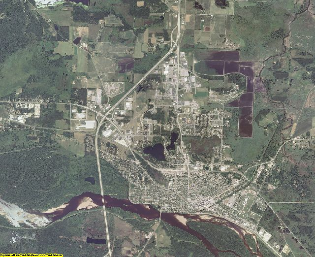 Columbia County, Wisconsin aerial photography