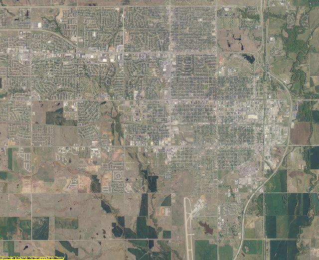 Comanche County, Oklahoma aerial photography