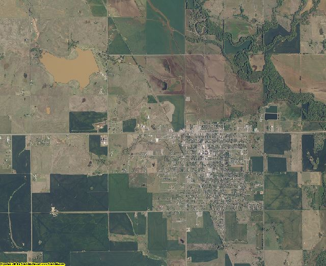 Cotton County, Oklahoma aerial photography