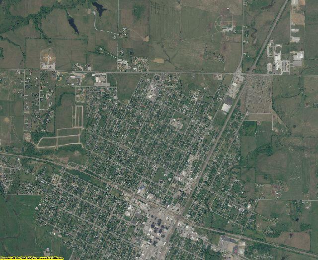 Craig County, Oklahoma aerial photography