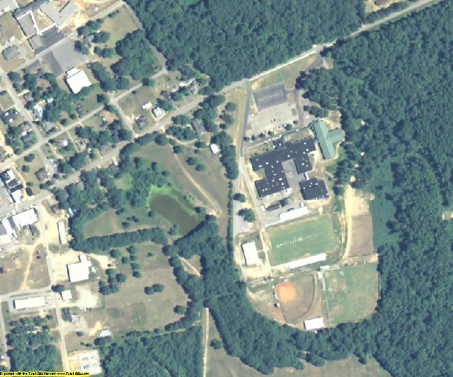 Crawford County, GA aerial photography detail