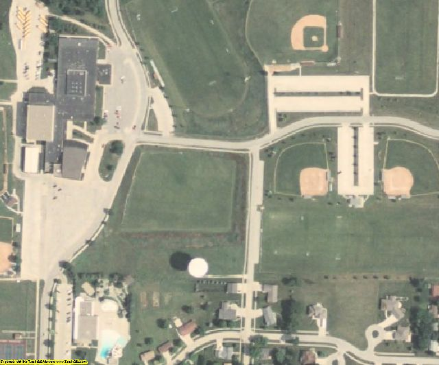 Crawford County, IA aerial photography detail