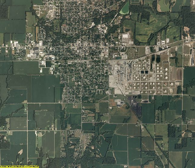 Crawford County, Illinois aerial photography