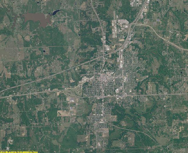Creek County, Oklahoma aerial photography