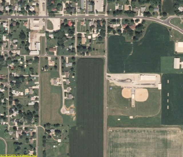 Cumberland County, IL aerial photography detail