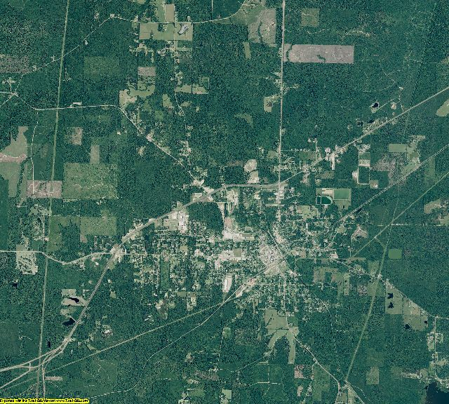 Dallas County, Arkansas aerial photography