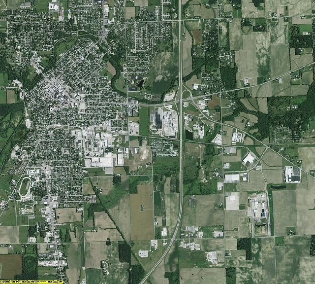 Darke County, Ohio aerial photography