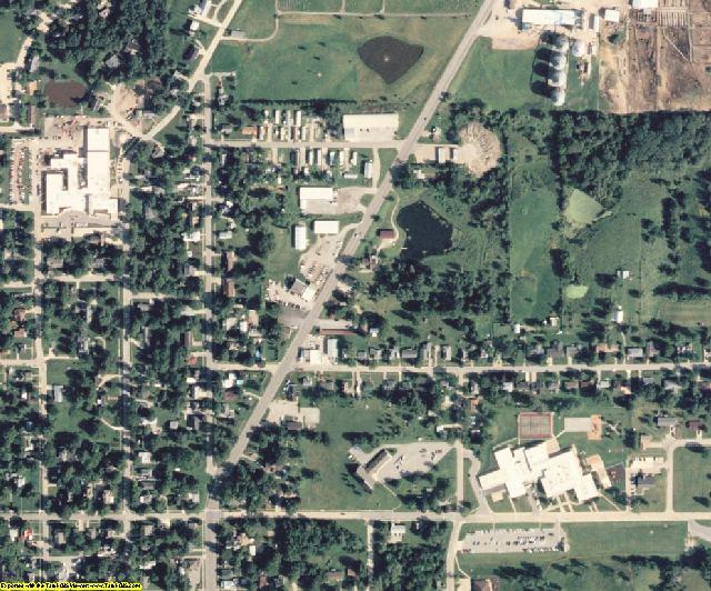 Davis County, IA aerial photography detail