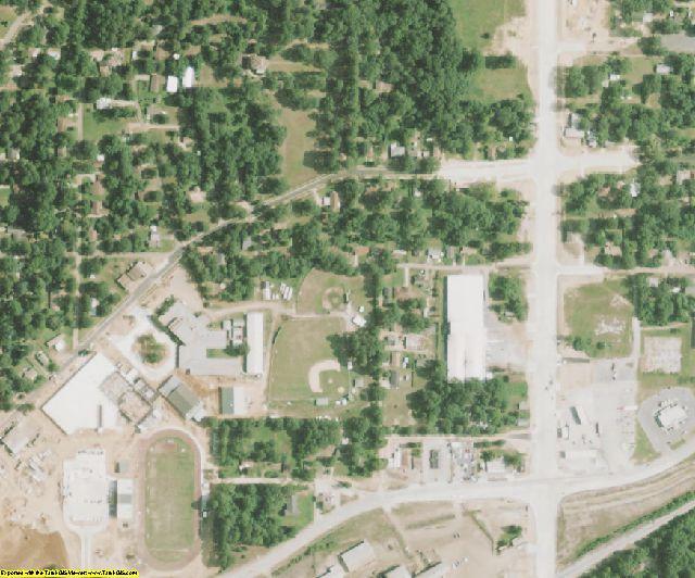 De Soto County, LA aerial photography detail