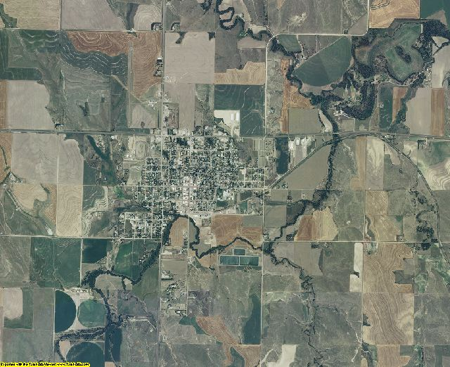 Decatur County, Kansas aerial photography