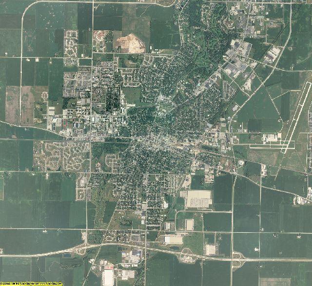 DeKalb County, Illinois aerial photography