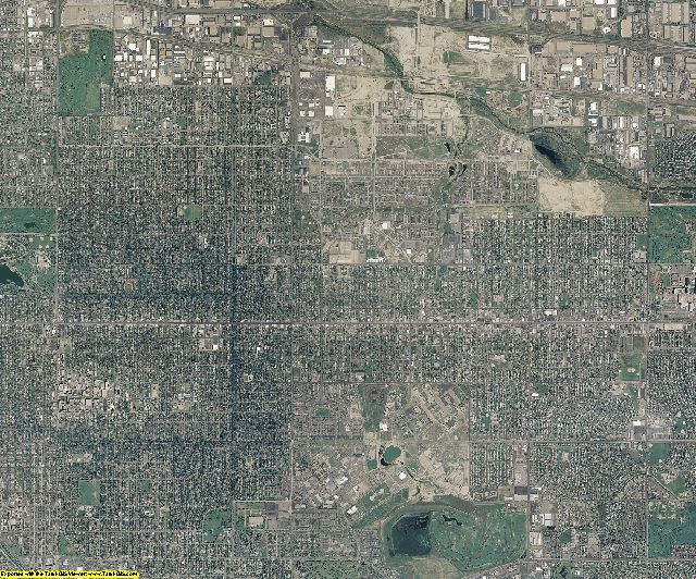 Denver County, Colorado aerial photography