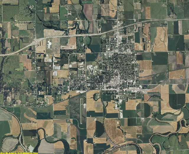 Dickinson County, Kansas aerial photography