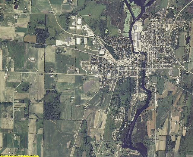 Dodge County, Wisconsin aerial photography