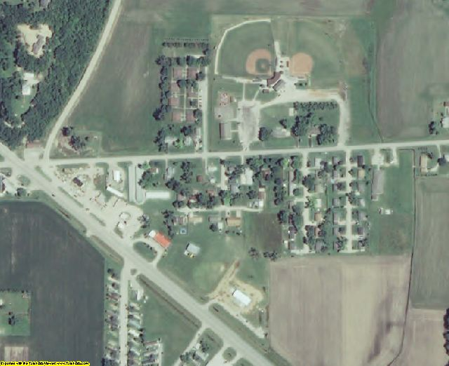 Doniphan County, KS aerial photography detail