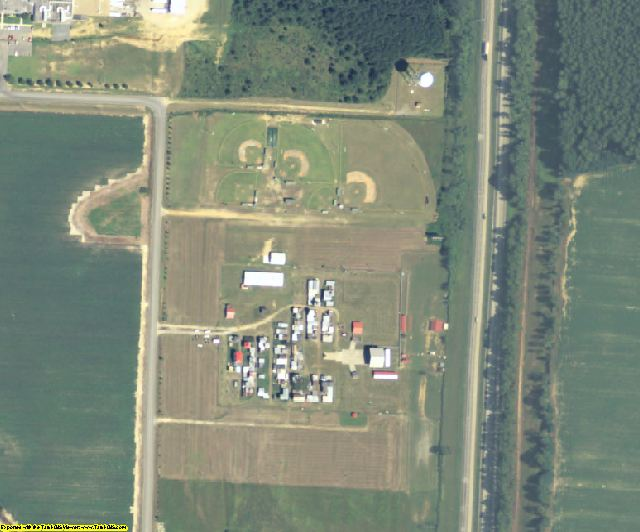Dooly County, GA aerial photography detail