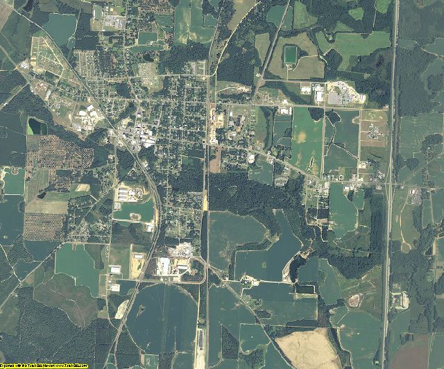 Dooly County, Georgia aerial photography
