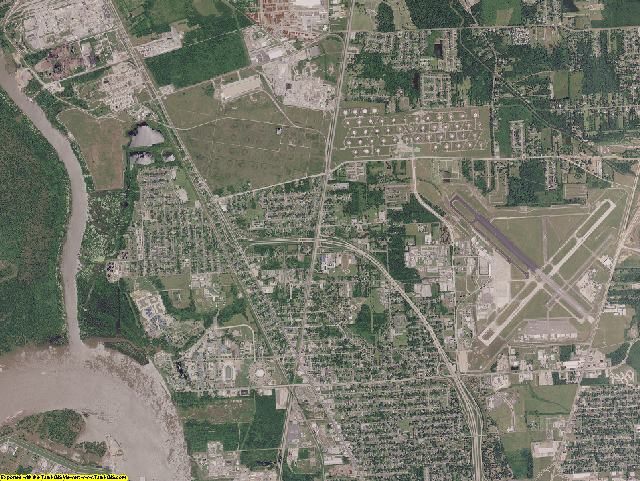East Baton Rouge County, Louisiana aerial photography