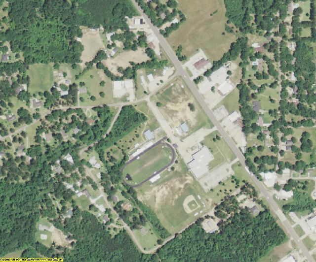 East Feliciana County, LA aerial photography detail