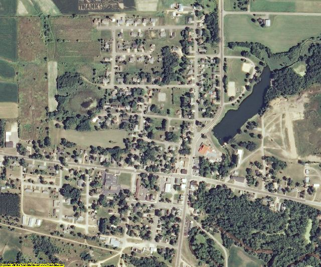 Eau Claire County, WI aerial photography detail
