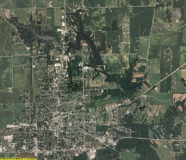 Edgar County, Illinois aerial photography
