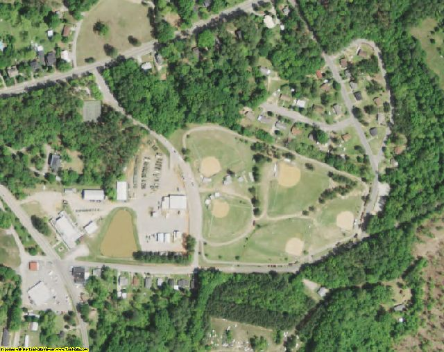 Edgefield County, SC aerial photography detail