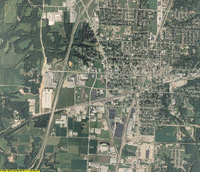 Effingham County, Illinois aerial photography
