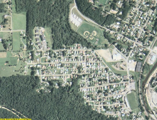 Elk County, PA aerial photography detail