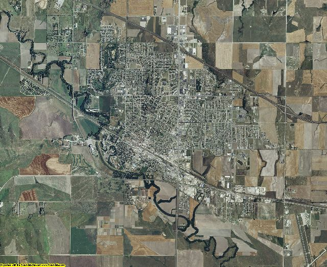 Ellis County, Kansas aerial photography