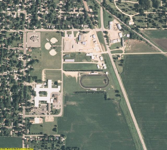 Faribault County, MN aerial photography detail