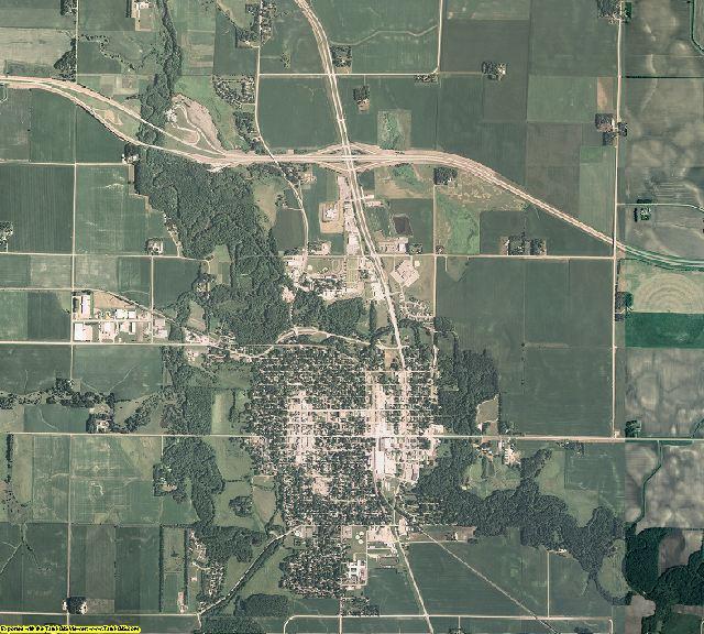 Faribault County, Minnesota aerial photography