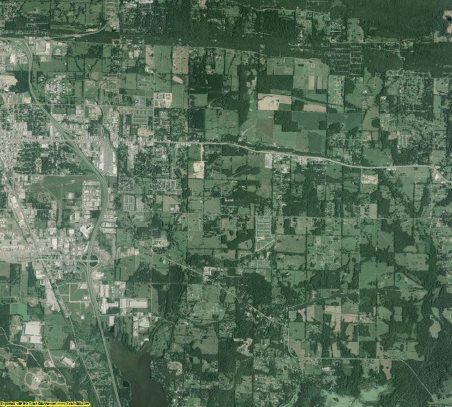 Faulkner County, Arkansas aerial photography