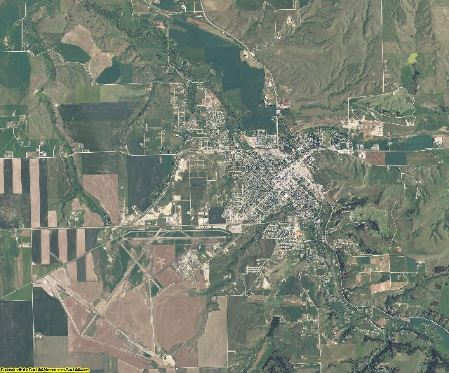 Fergus County, Montana aerial photography