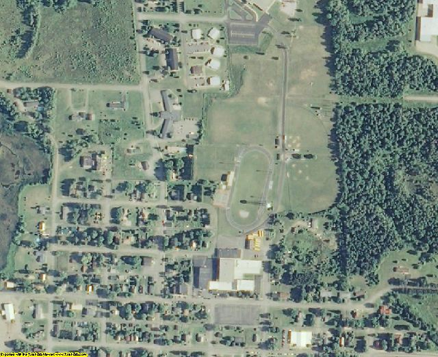 Florence County, WI aerial photography detail