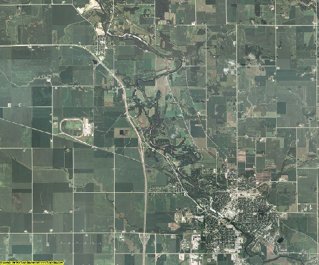 Floyd County, Iowa aerial photography