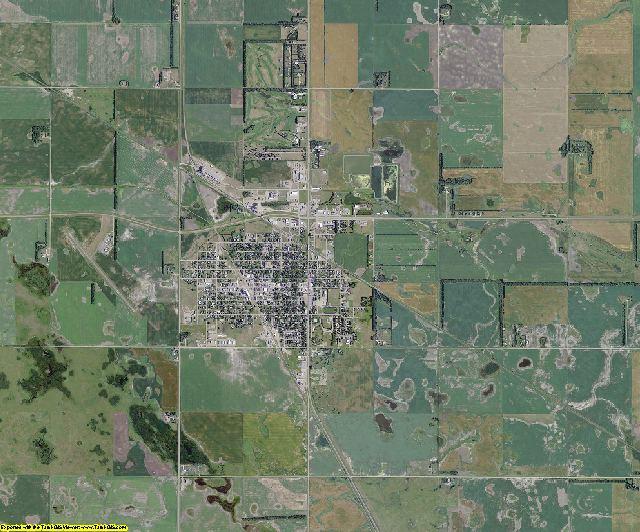 Foster County, North Dakota aerial photography