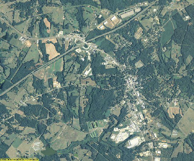 Franklin County, Georgia aerial photography