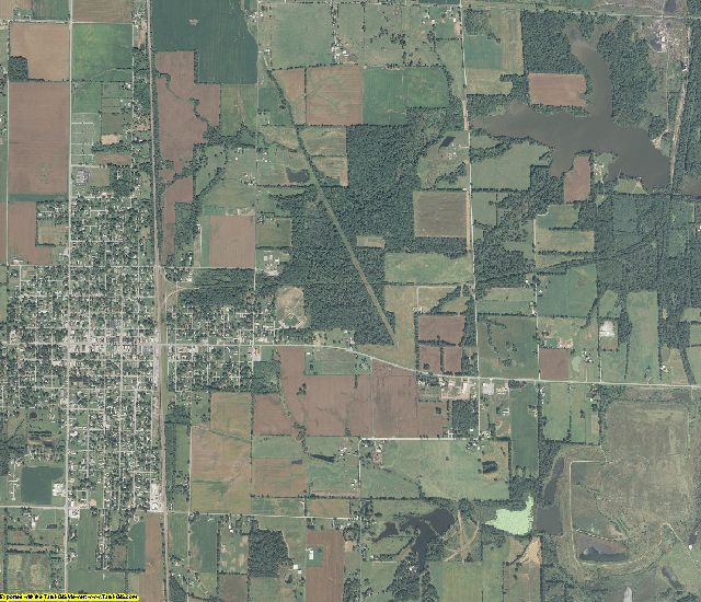 Franklin County, Illinois aerial photography