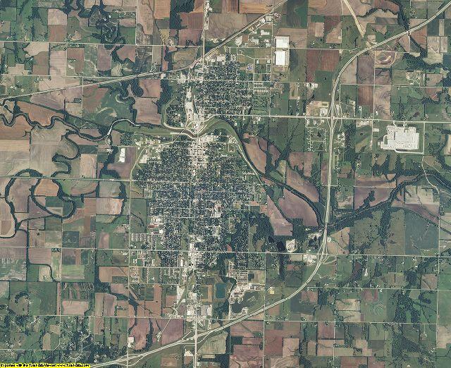 Franklin County, Kansas aerial photography