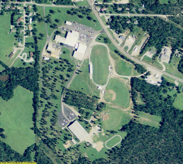 Fulton County, AR aerial photography detail
