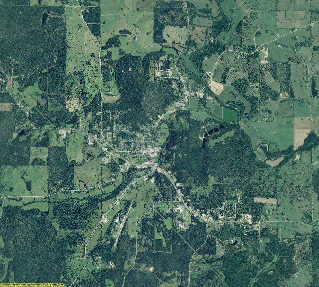 Fulton County, Arkansas aerial photography