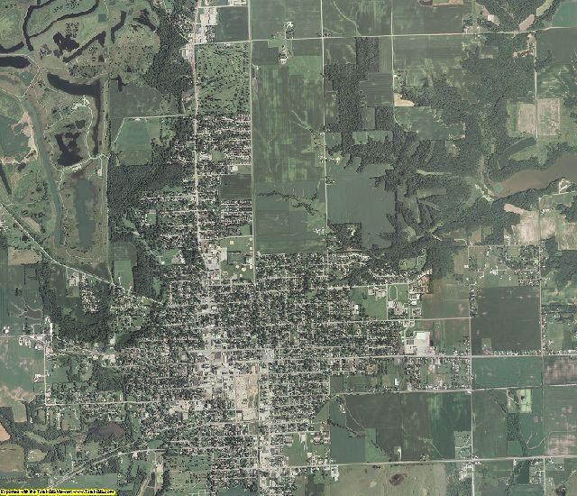 Fulton County, Illinois aerial photography