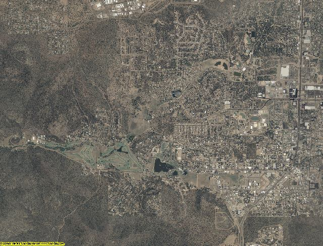 Gila County, Arizona aerial photography