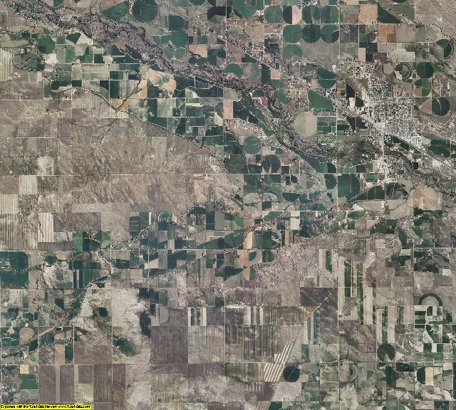 Goshen County, Wyoming aerial photography